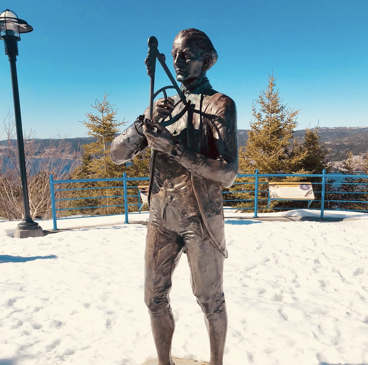 Captian James Cook, embalmed, bronzed, and permanently in Corner Brook!!!