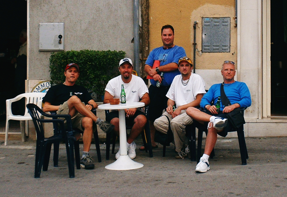 i turisti......Tom Lewis,Paul Stephens,Joe Natale,Chris McNeill and me.
