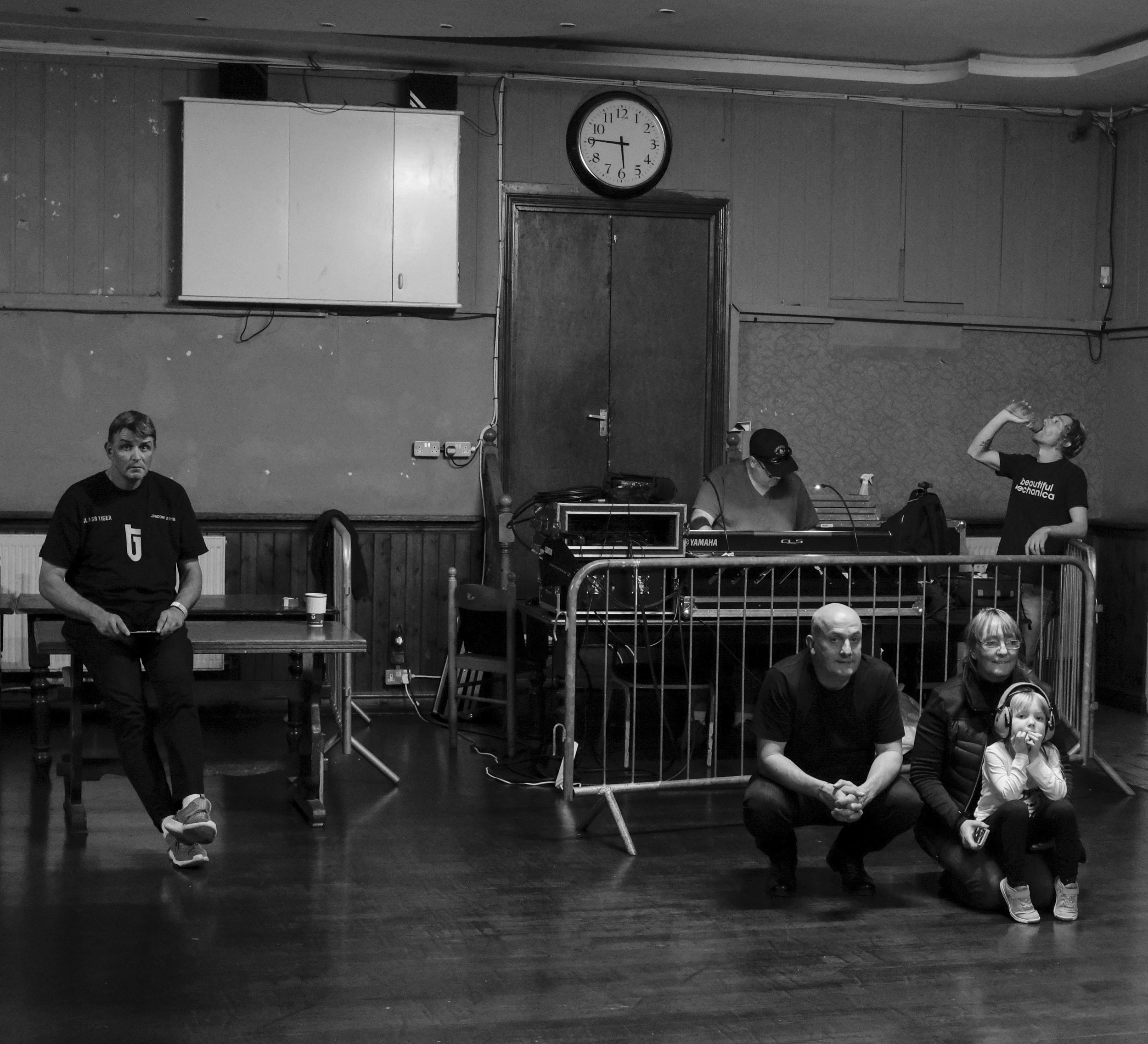 "My ""second family"" from Scotland at soundcheck. The lad, far left, is ""Flip"" all the way from Holland."
