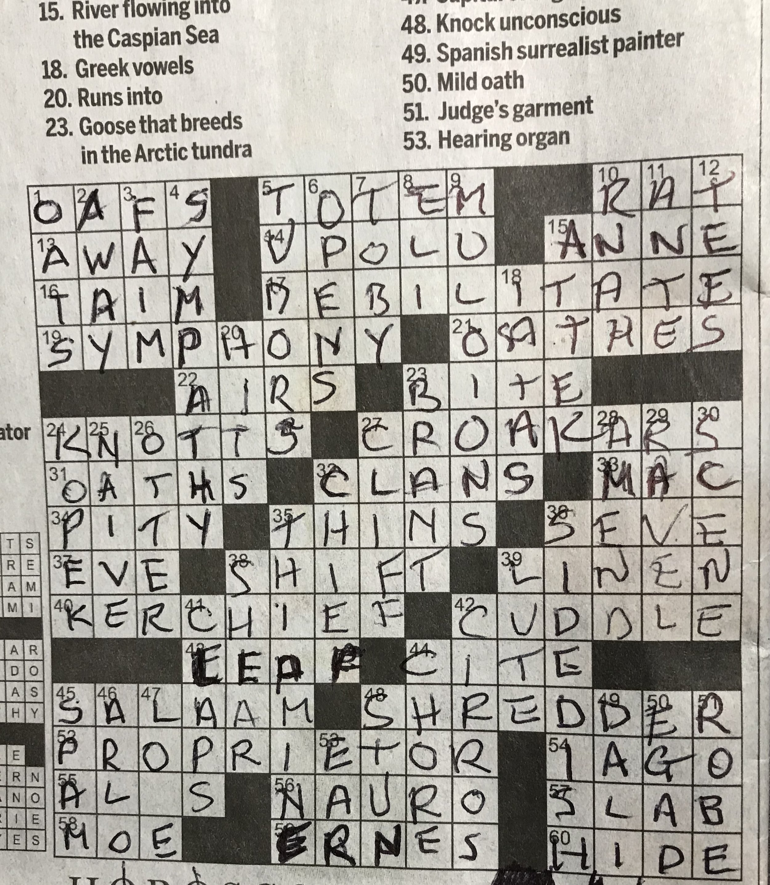 Oh crossword how do I love thee? Let me count the ways.