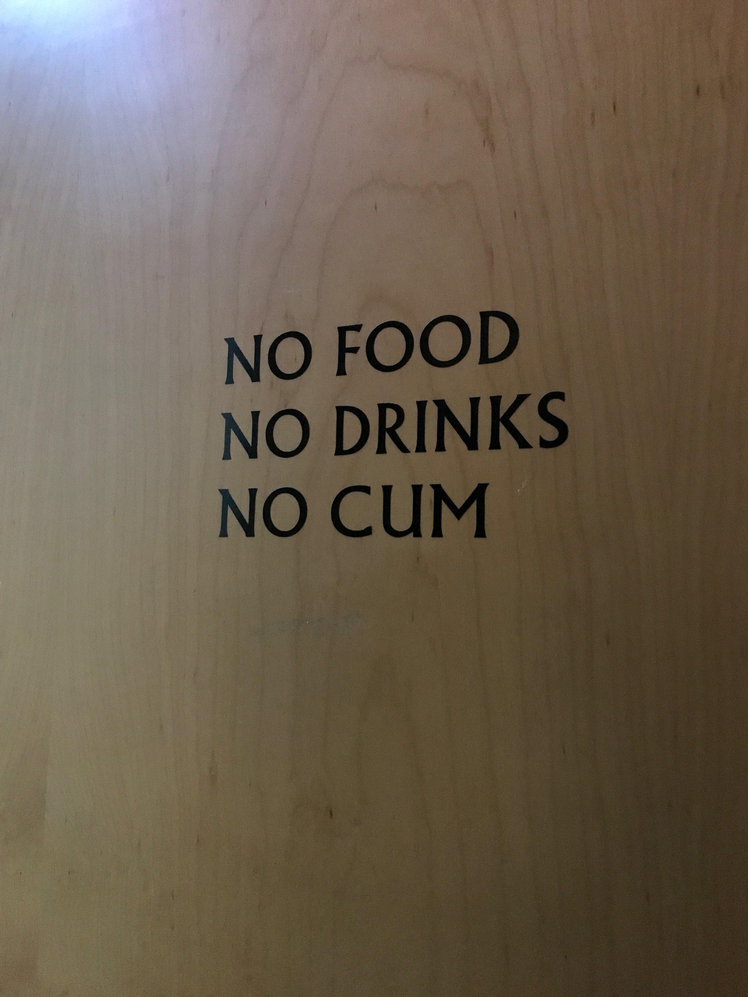 No food......No drinks.....No wonder....