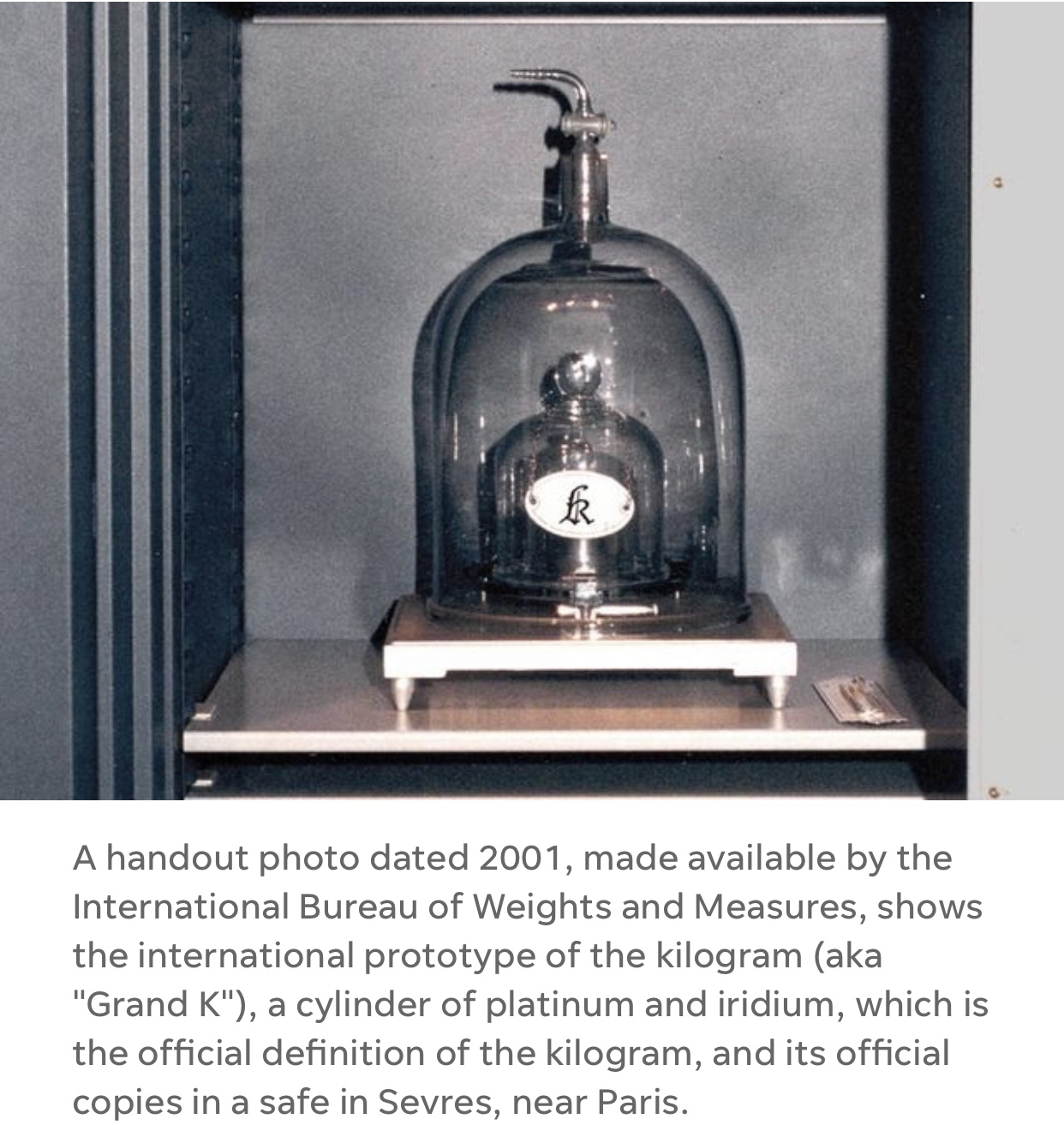 "Ladies and gentlemen, I give you.... the ""kilogram!"""