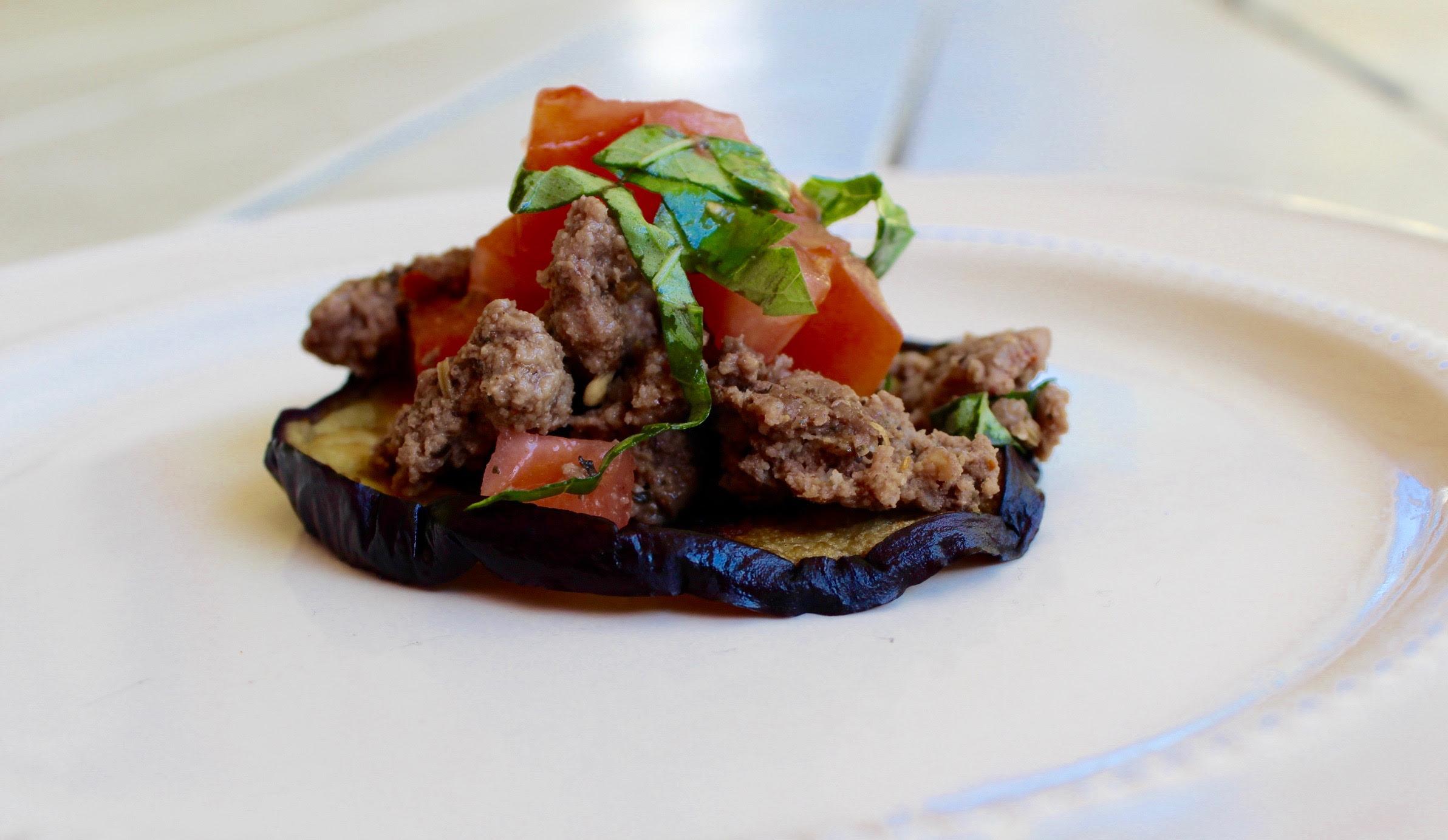 Eggplant Bruschetta Bites