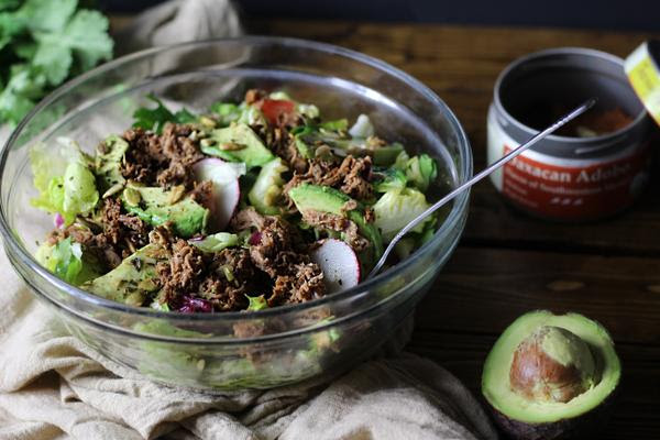 Shredded Beef Fresca Salad