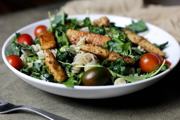 Cajun Chicken Caesar Pasta Salad