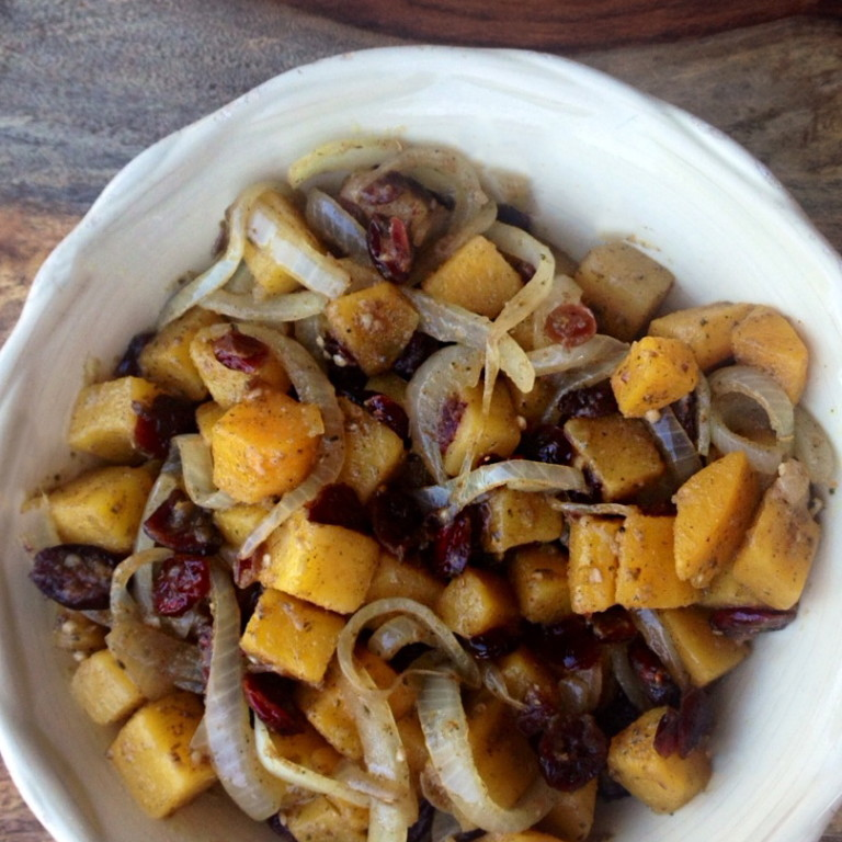 Cranberry and Butternut Squash Curry