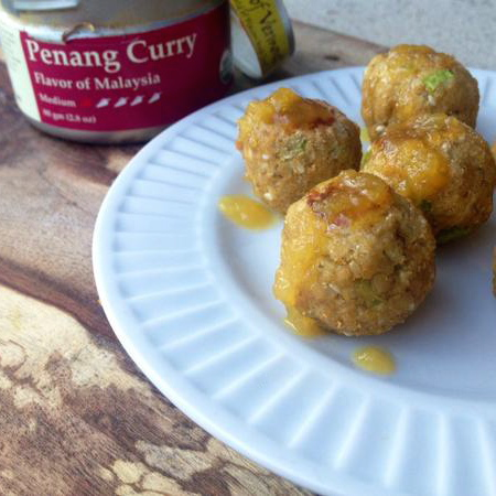 Curry Cauliflower Bites with Pineapple Glaze