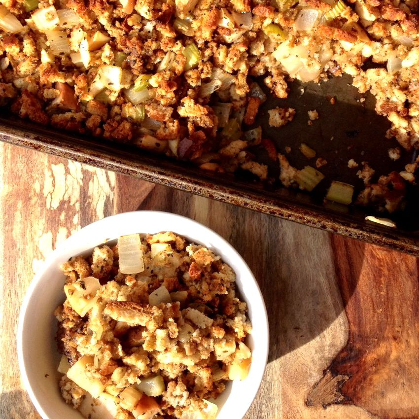 Spiced Apple and Onion Stuffing