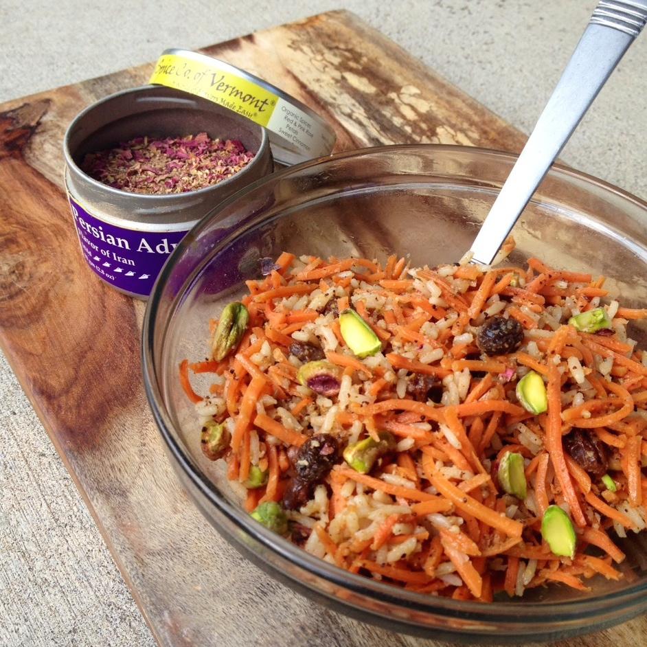 Sweet and Savory Adwiya Carrot Salad