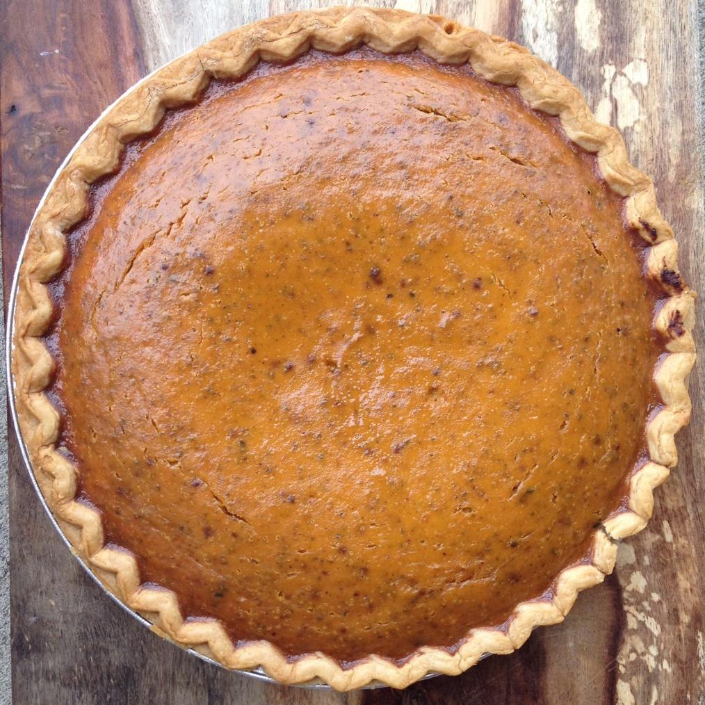 Garam Masala Pumpkin Pie