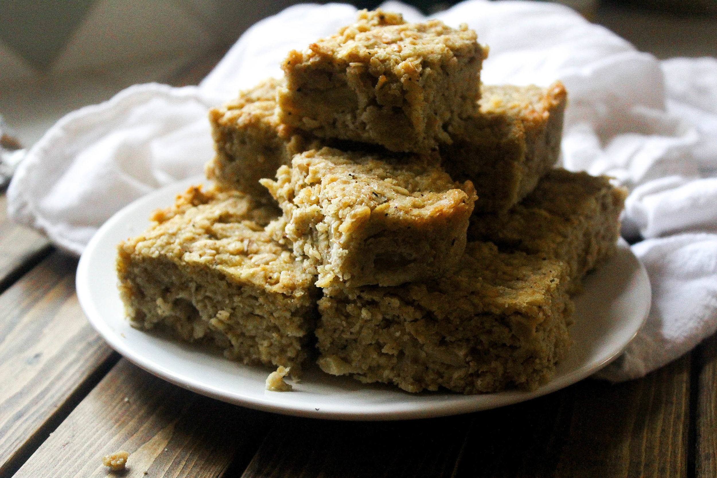 Gluten Free Spiced Apple and Oat Bars