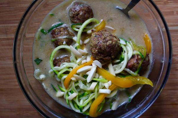 West African Curry Meatball Soup