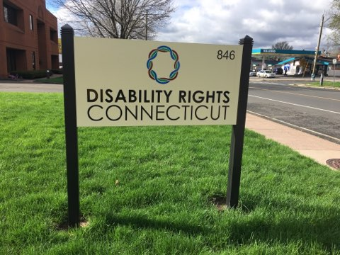 Disability Rights Connecticut Street Sign