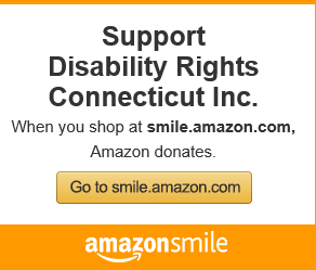 Amazonsmile banner encouraging support for Disability Rights Connecticut.