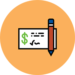 Image of a written check