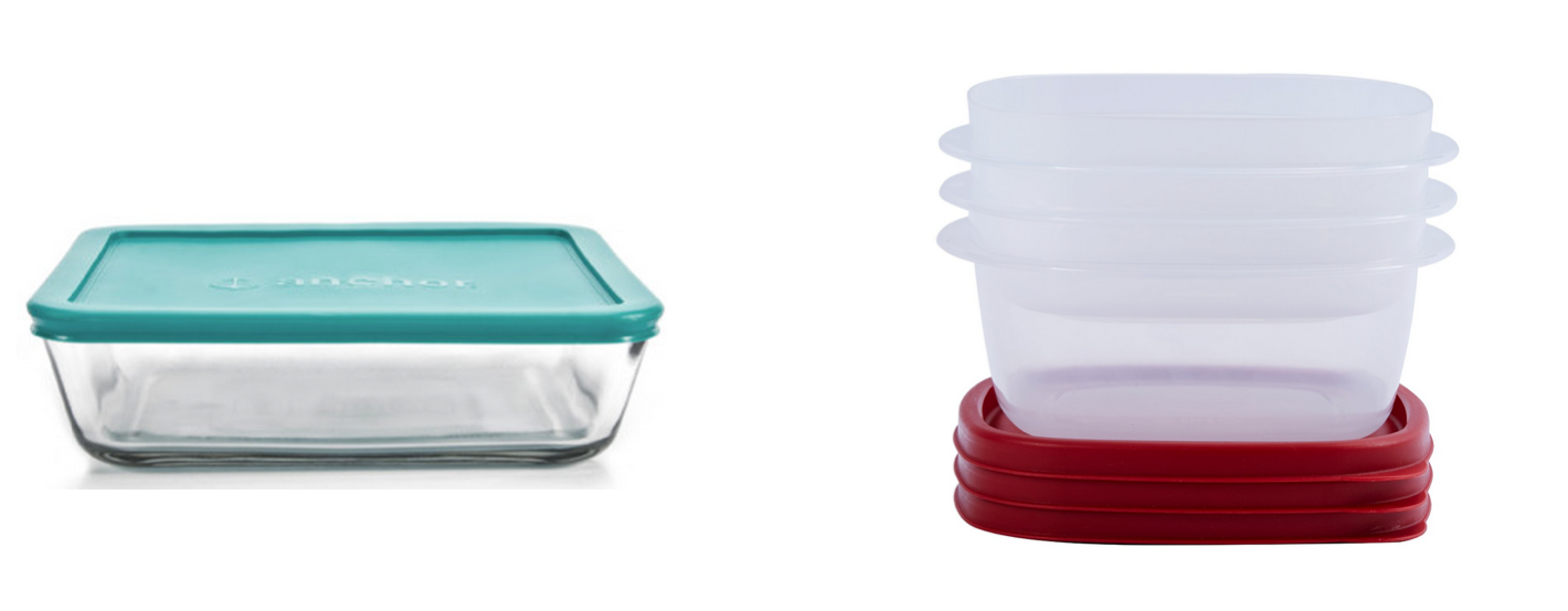 pyrex and plastic
