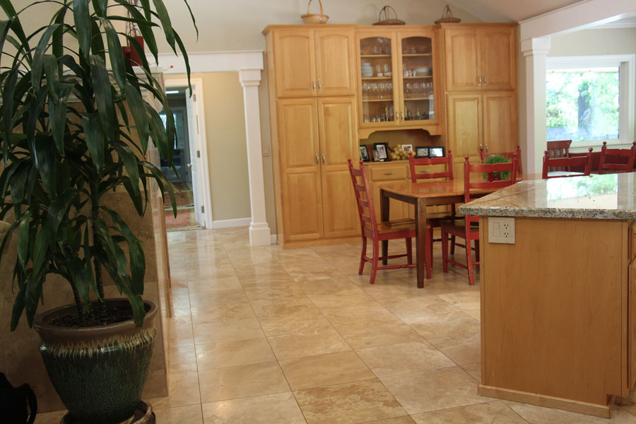 Stone floor and granite counter tops