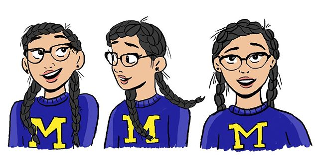 Facial expressions ✨ I've finally settled into this new city and new job so I hope I can post more! #digitalillustration #umich