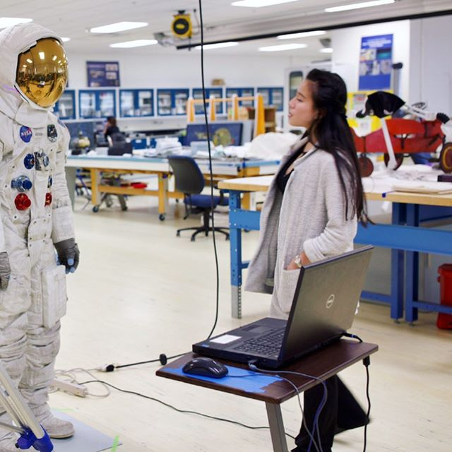 Happy 50th anniversary of Apollo 11 Moon landing! Throwback to last summer when I  worked with @smithsonian3d as an intern documenting and providing support 3D scanning Neil Armstrong's 1969 spacesuit. Be sure to check out the #3D tour of the suit at 3D.si.edu. Missing the incredible 3D team @gnocchi_dinner @chickens.jpg @the_wind_spirit @thejoeconrad #apollo11 #spacesuit