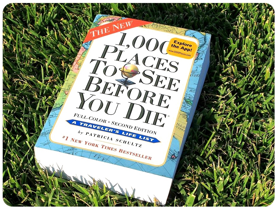 The inspiration - 1,000 Places to See Before You Die is a 2003 travel book by Patricia Schultz, published by Workman. A revised edition was published in November 2011.