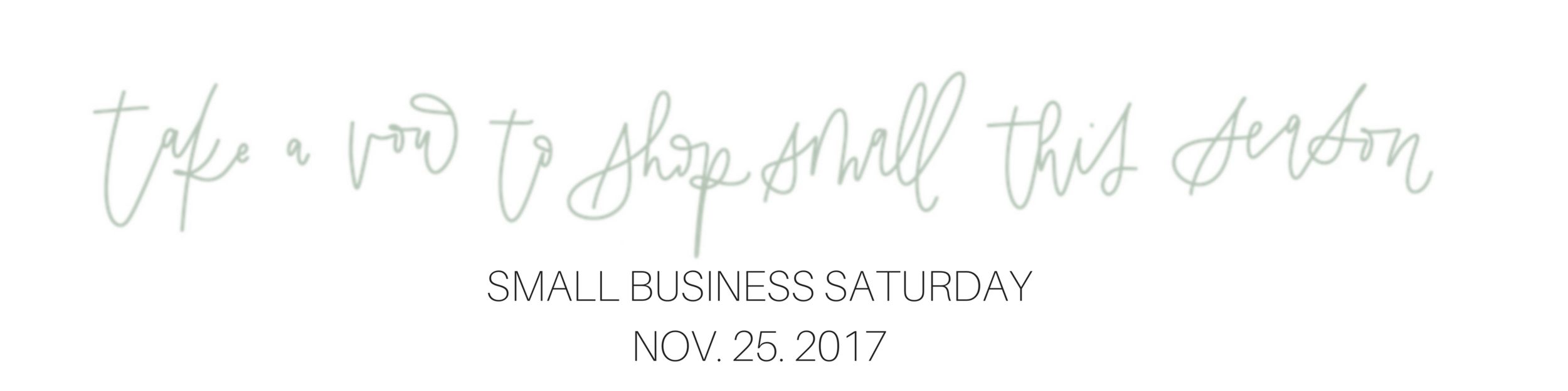 etsy banner shop small saturday 2017