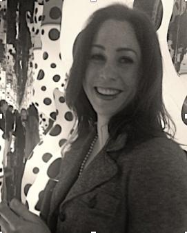 Allison Furry at Yayoi Kusama Exhibition at David Zwirner, New York