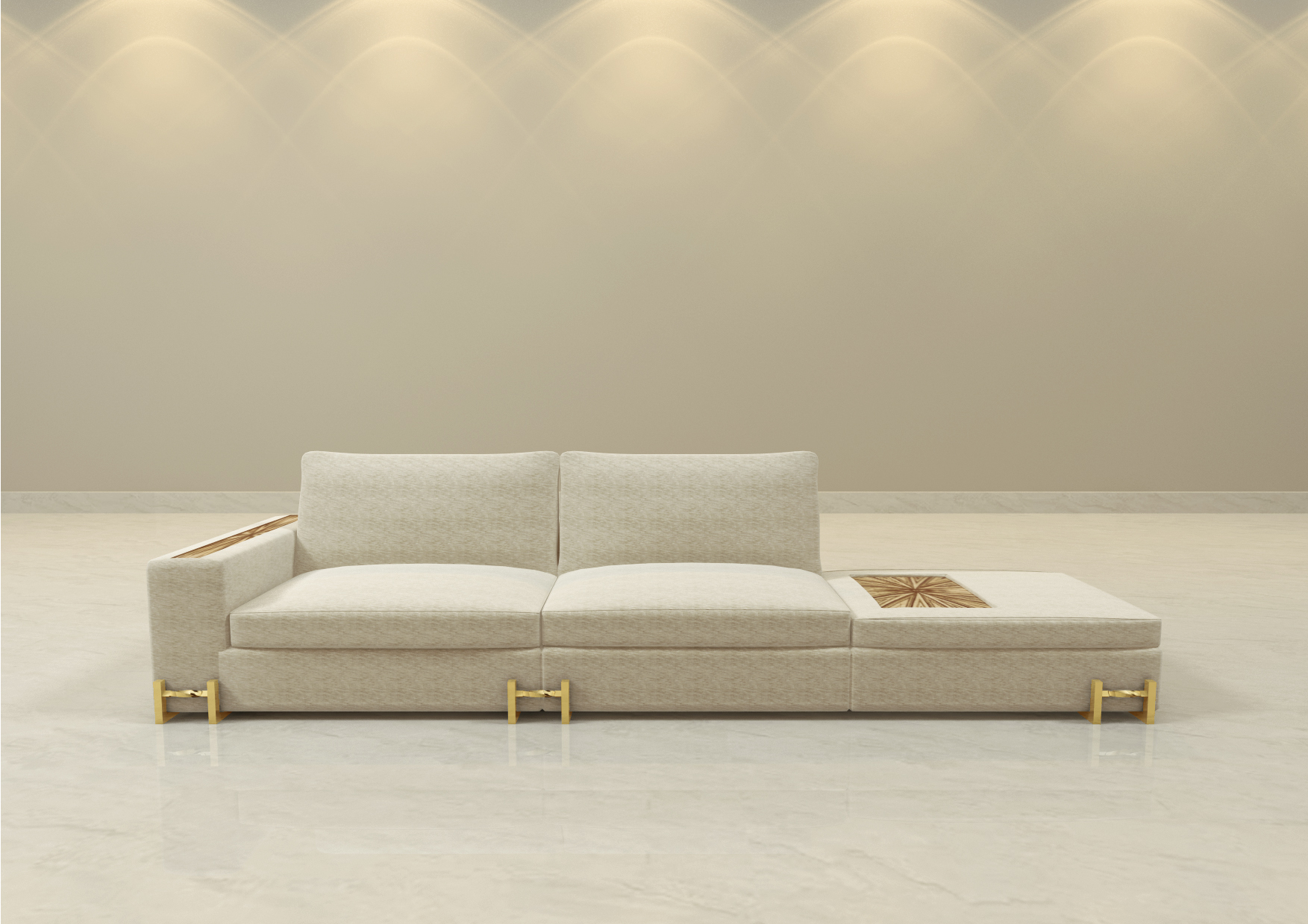 "The Plaza Legacy Sofa - Overall Dimensions: 129"" long x 37 1/2"" deep x 32"" tallPricing and more information contact us."