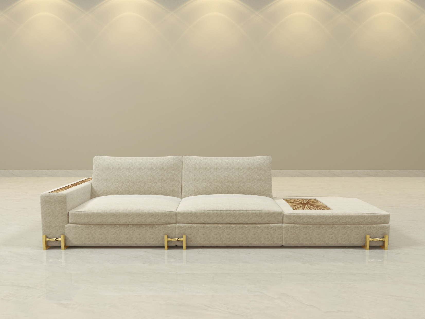 "The Plaza Legacy Sofa - Overall Dimensions: 129"" long x 37 1/2"" deep x 32"" tall. Pricing and more information contact us."