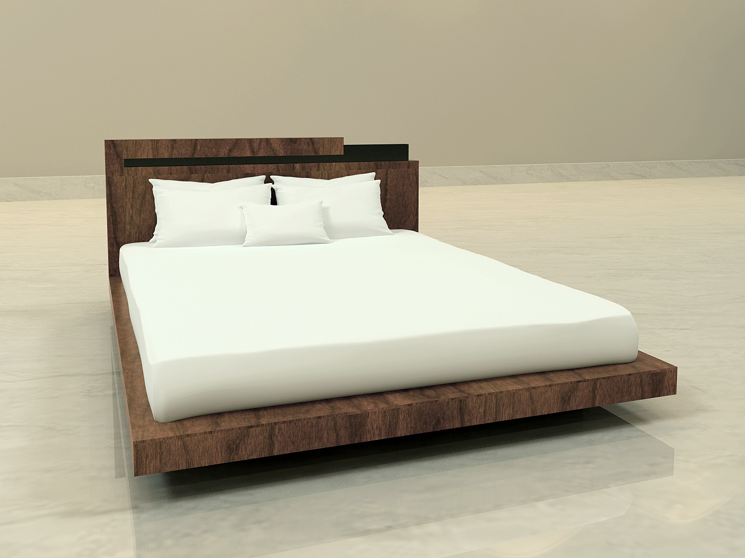 Tower Room Bed - Overall Dimensions for Cal King Bed: 96