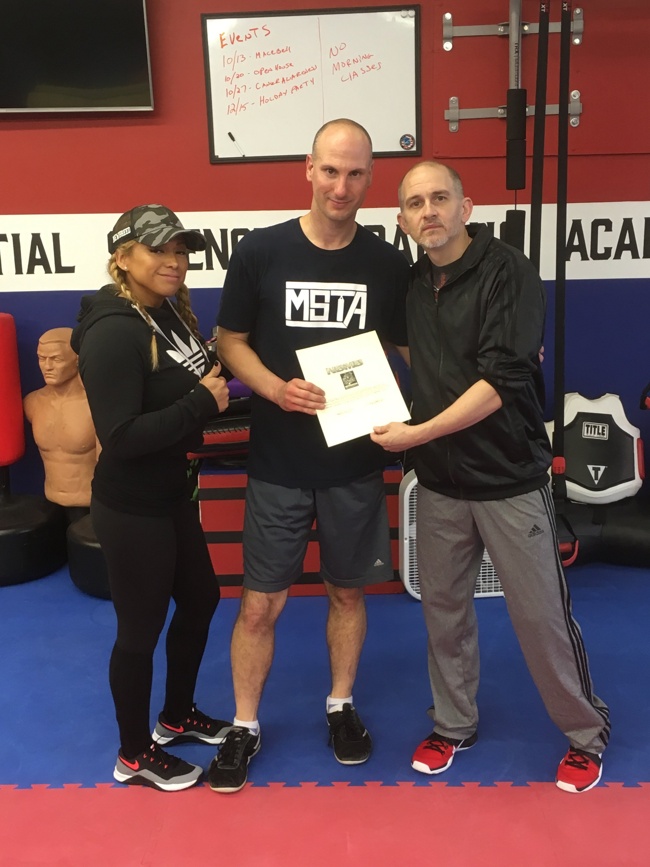 Certified Macebell Coach under Newbreed Fitness