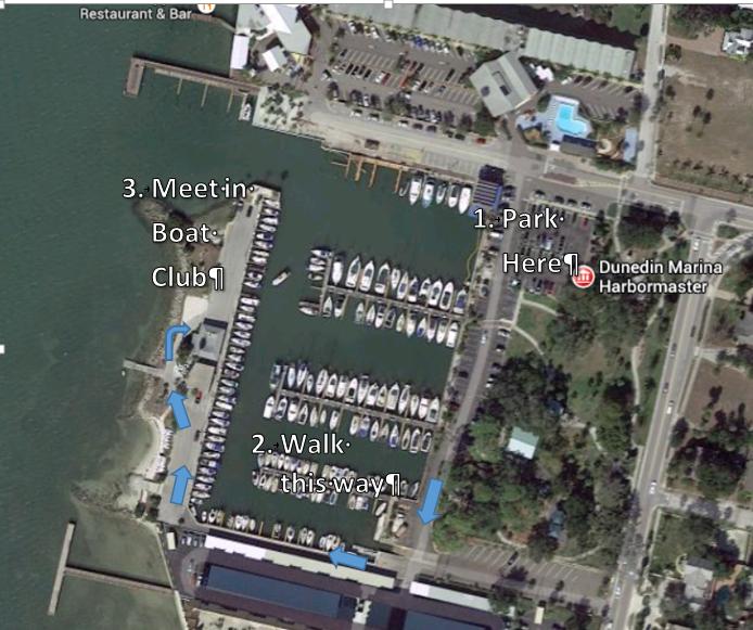 Dunedin Marina map