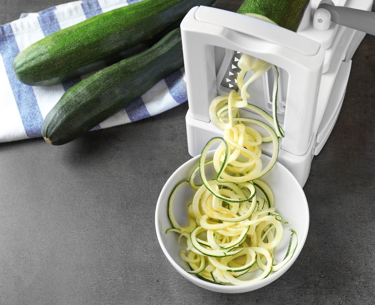 Spiralizer Veggie Slicer - This handy gadget is a gluten-free person's best friend (like me!). In the summer I use this to make zuchinni noodles for our backyard pesto - and in the winter I like to spiralize up some sweet potatoes to fry up in a cast iron pan for a breakfast hash.