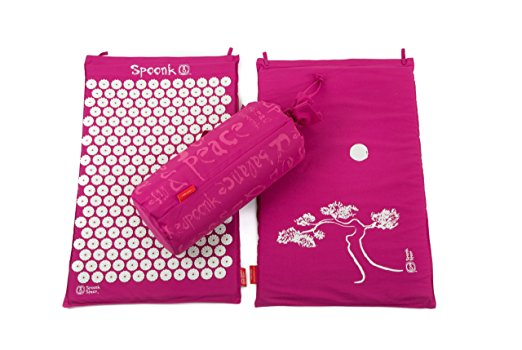 Spoonk Acupressure Mat - This mat helps bring some of the benefits of your acupuncture treatments home with you! It uses acupressure to stimulate a lot of the same meridians and acu-points we access in the clinic - all from the comfort of your own bed. I used this a lot after my neck surgery several years back and found it great to help me relax, sleep without pain, and wake without headaches.