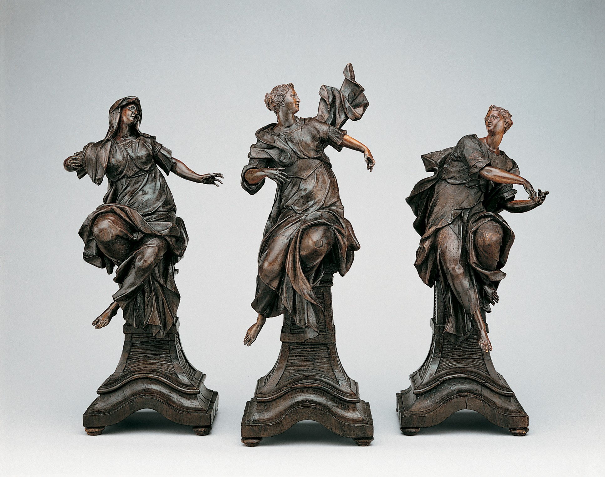 Faith, Hope, and Charity by Balthasar Ferdinand Moll, ca. 1739-1740.   Metropolitan Museum of Art.