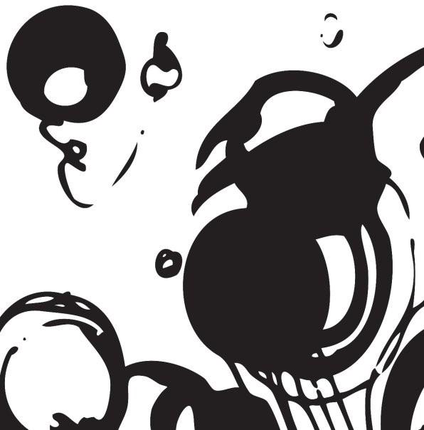 """""""Analog Algorithm,"""" cut vinyl on canvas by Lisa Marie Michitti.  Lisa Marie Michitti ."""