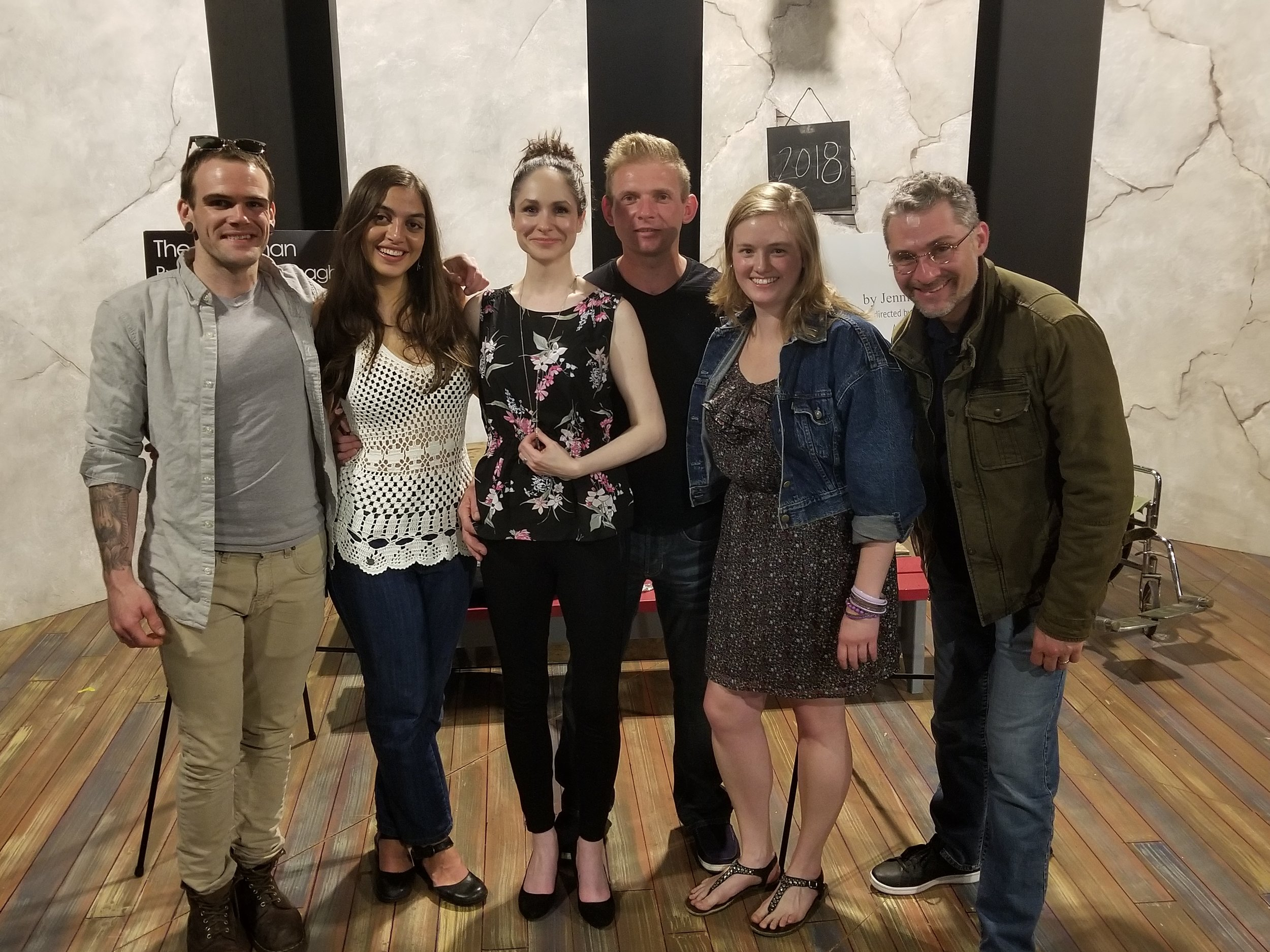 Rob Schreiner, Solana Ramírez-García, Jaimelyn Gray, Les Zarzecki, Dana Vetter, and Matthew Ivan Bennett