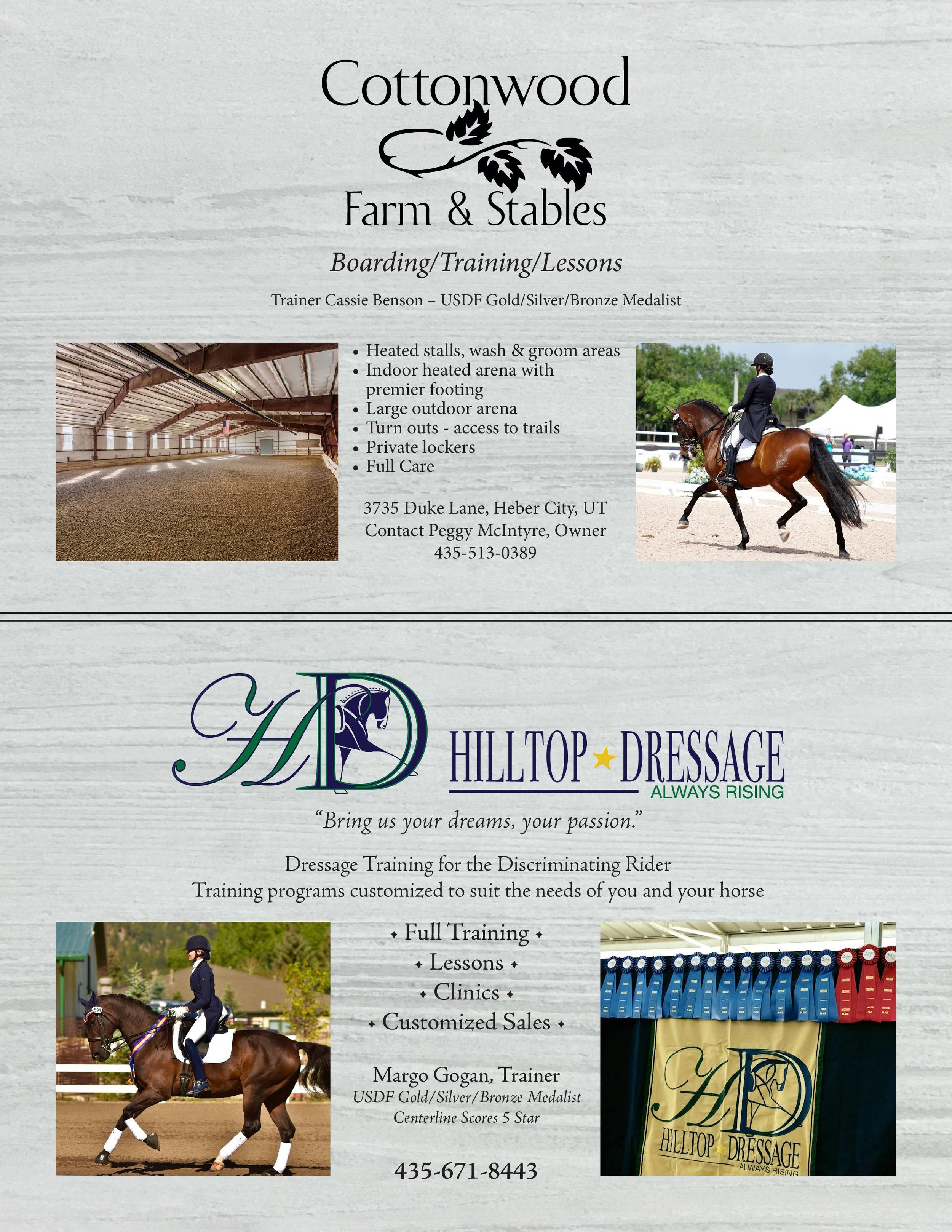 Hilltop Dressage/Cottonwood Farm & Stables