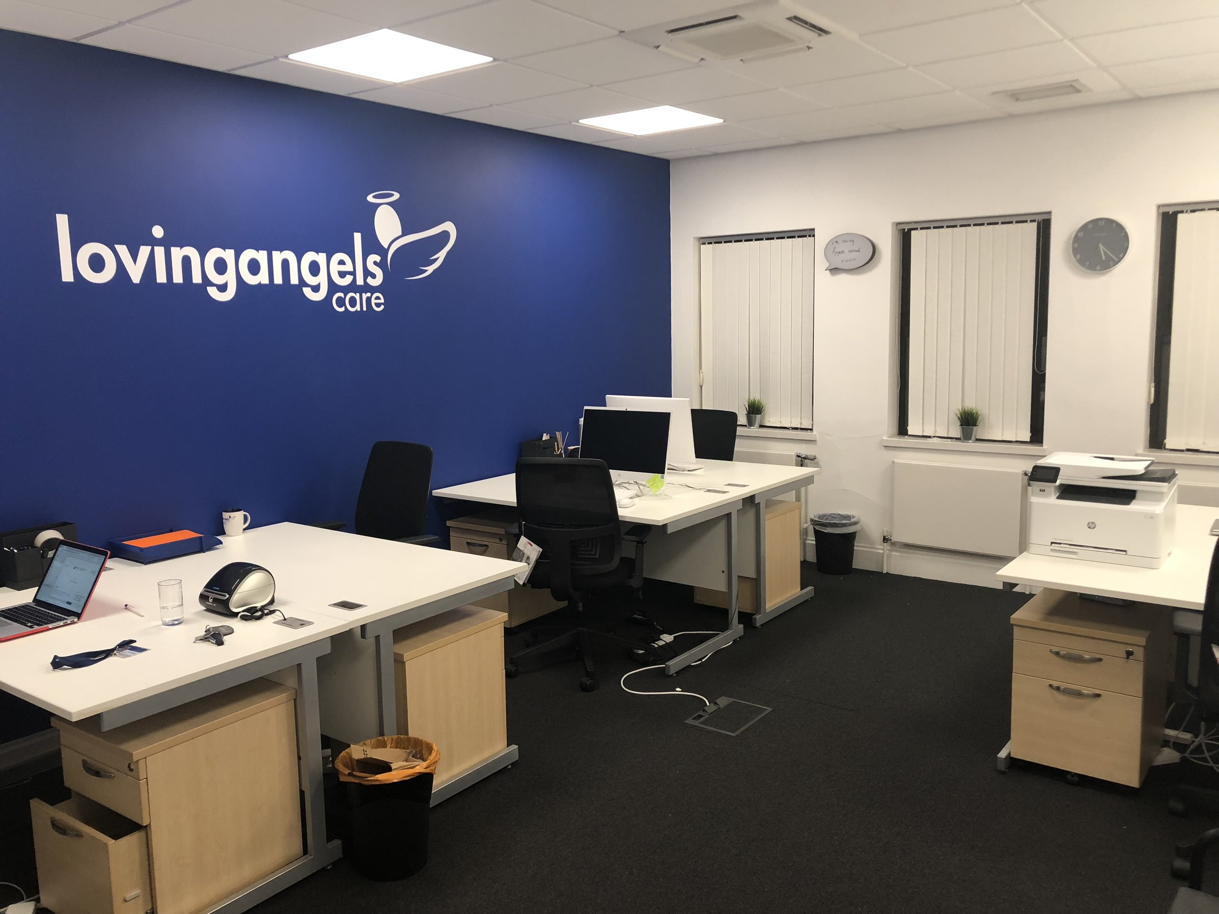 Our current office at Flexspace offices in Moulton Park Northampton. Thank you to the team at MG Signs for the signage.