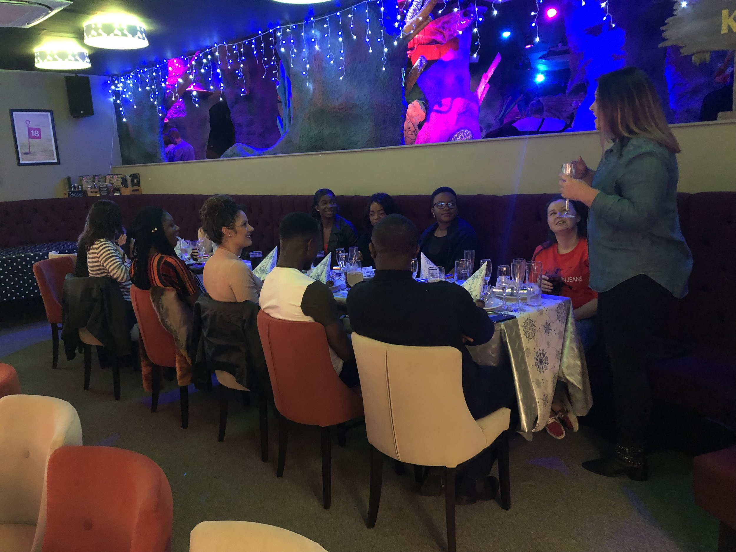 Our Christmas party at Mr Mulligans crazy golf in Milton Keynes.