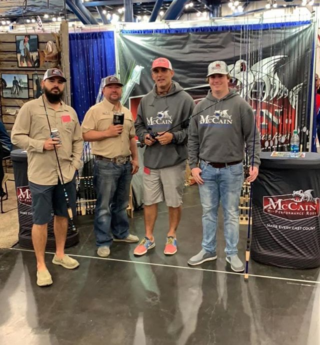 Starting from today till Sunday come by our booth at the Houston Fishing Show buy 6 rods and you will receive your choice of either a guided saltwater or freshwater fishing trip for free! Come by and check us out!
