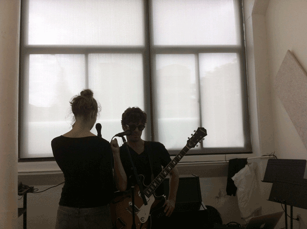 Duets for One rehearsal