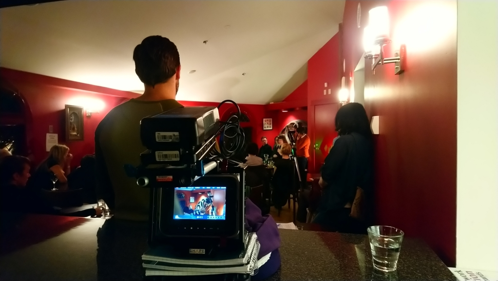 Filming at the Stray Reading + Performance at Magnetic North