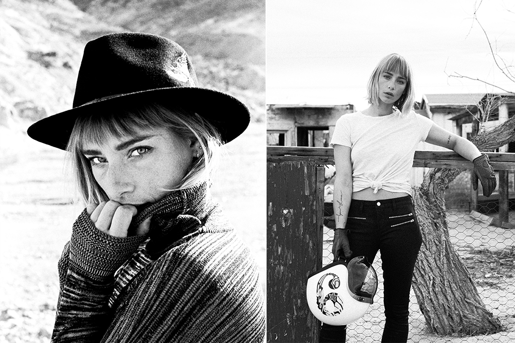 Hat:  Van Palma  White Tee:  Michelle By Michelle Commune