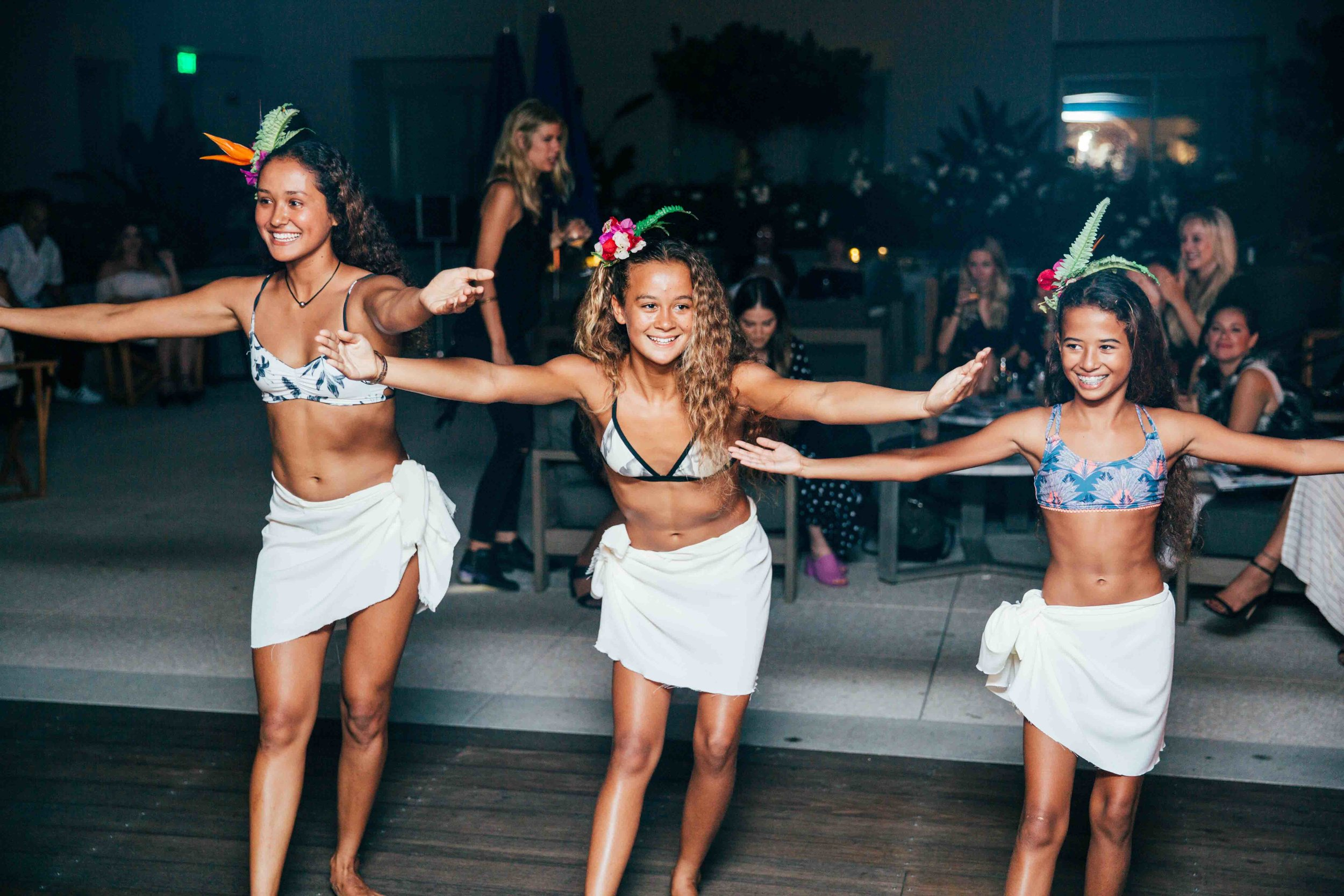 Did not expect the surprise hula dance from the cutest little Tahitian dancers,