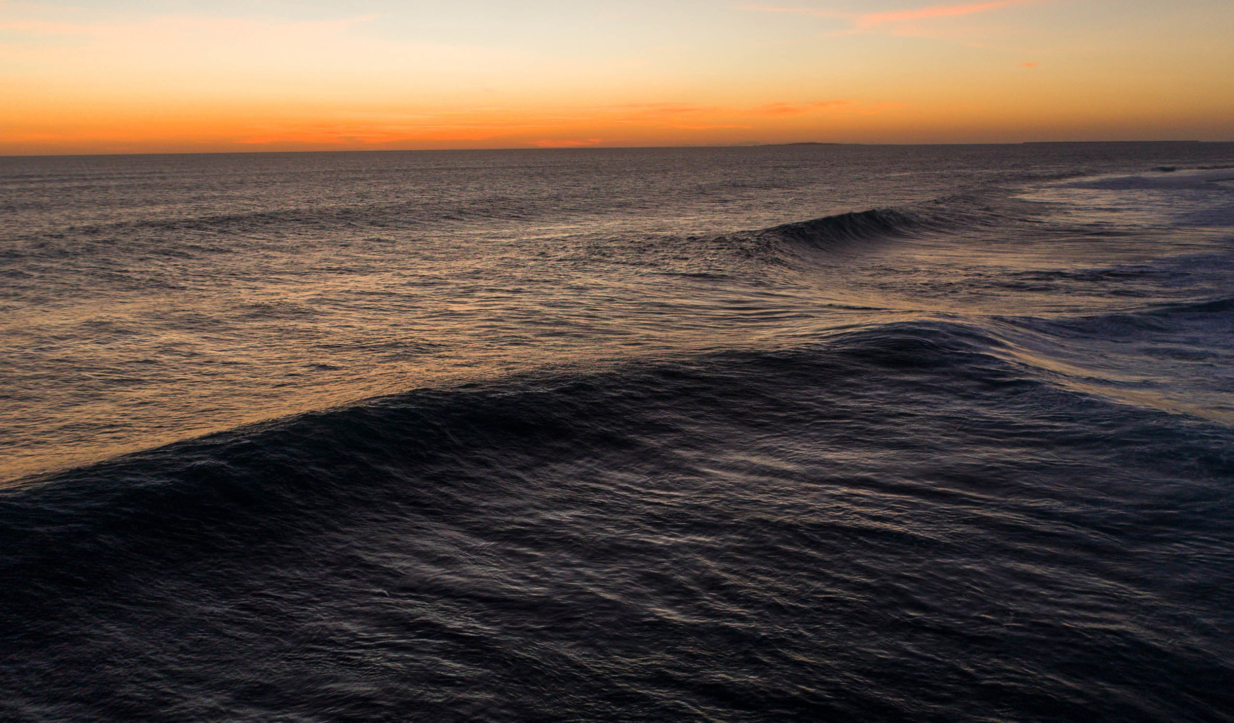 The sunset mixed with the waves is the daily combination here.