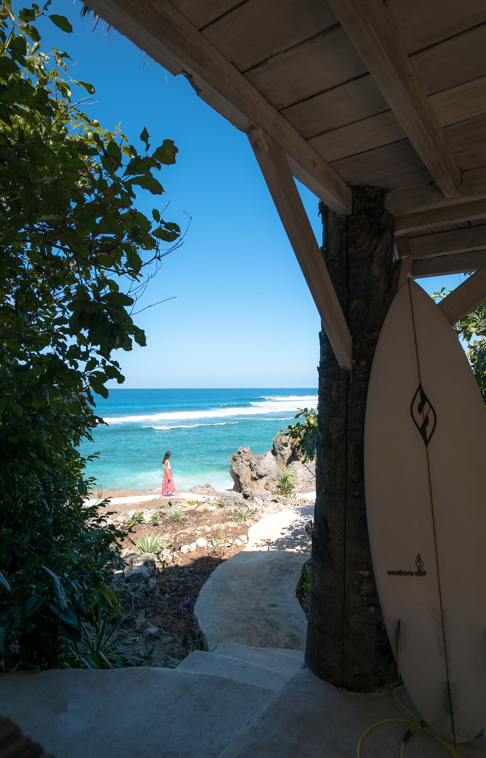 In this paradise you have world class waves always pumping.