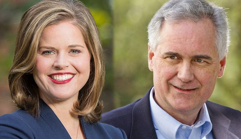 Jessica Morse and Tom McClintock headshots