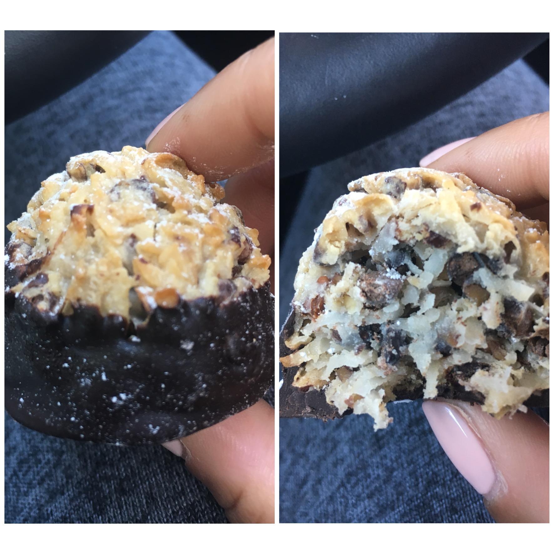 Dark Chocolate Coconut Macaroon - Ooh La La The Dessert Boutique, Houston, TX