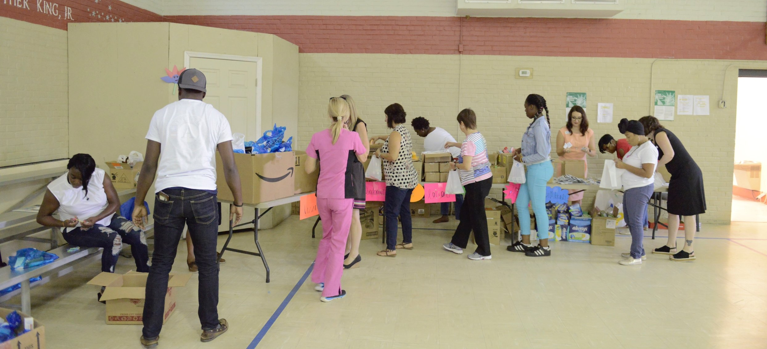 Fresh Start KitPacking Party - On August 8th 2018 we packed approximately 338 Fresh Start Kits. These kits have personal care items for young ladies and gentlemen in middle and high school. This was not your normal packing party! I believe that serving others can be fun!!! We had a DJ, lunch and goodies to keep our volunteers energized.On August 23rd 2018 we started distributing Fresh Start Kits by delivering them to schools, community centers and other local organizations. We are off to a great start but we still need more support to reach our goal of 500 kits.