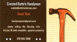 scott yost handy man crested butte